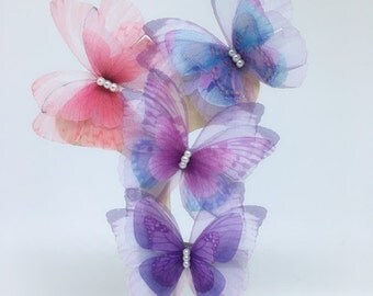Nice bar to hair. butterfly fabric