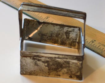 "Vintage Tin DIAMOND COOKIE CUTTER | 3 13/16"" x 3 1/8"" x 1 1/8"""
