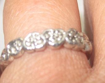 V-1  Vintage Ring sterling silver size 6  1/2