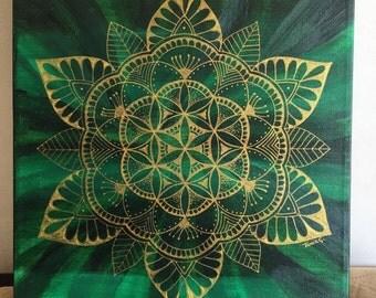 Mandala Flor de Jade