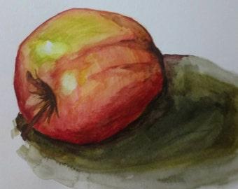 Watercolour - Apple - 6.5x8