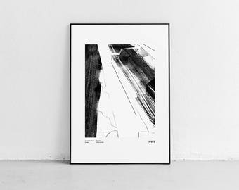 London's Alexandra Road Estate. Wall art. Original poster. High quality giclée print. signed by designer.