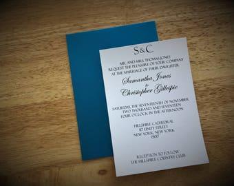 Monogram Tiffany Wedding Invitation, The Tiffany Wedding Invitation Deposit