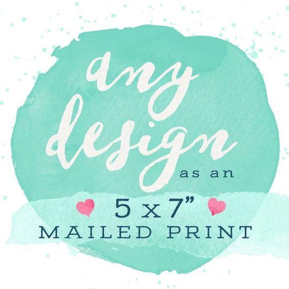 "Adoren Studio - Print & Mail My Design! 5x7"""