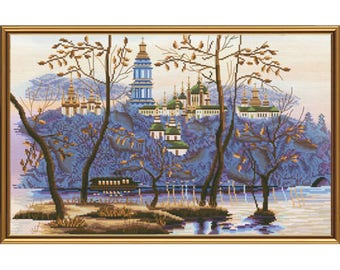 Cross Stitch Kit Evening Kiev