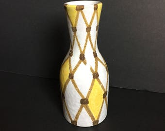 SALE!!! Vintage Bitossi Harlequin / Diamond Vase / Italian Ceramics / Signed