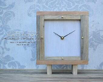 Table Clock, Hanmdade Clock, Desk Clock, Modern Clock, Clock, Wooden Clock, Clock, Small Clock, Rustic Clock, Table Clock, Wood Clock