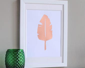 Banana Leaf Copper Art Print