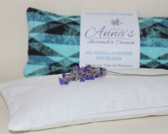 Relaxing Lavender Eye Pillow with Removable Cover Petite - Turquoise