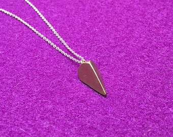 Faceted Pendulum Necklace