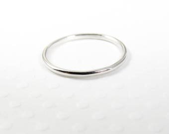 Silver Stacking Ring, Sterling Silver Thin Ring