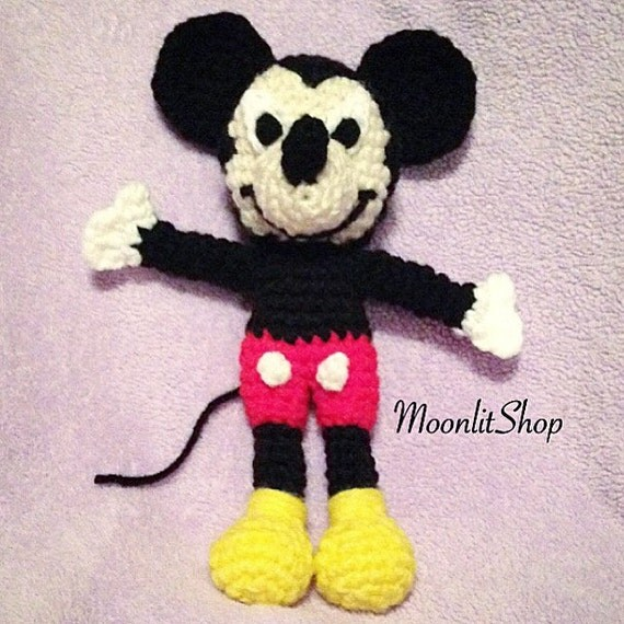 Crochet Disney Mickey Mouse Inspired Amigurumi Doll