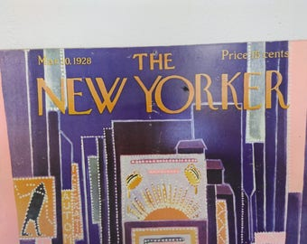 Vintage New yorker poster , the new yorker 1928, vintage poster time square, the new Yorker cover poster