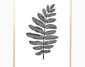 "Wall Art, Nature Art, Housewarming gift, Watercolor, Wall Decor, Fern, Nature Prints, Home Decoration, Fern Print, Home Gift, 9"" x 12"""