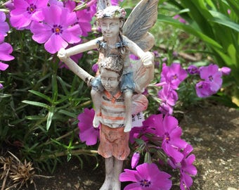Miniature Garden Fairy, Miniature Fairy, Fairy Garden, Terrarium Garden, Flower Pot Garden, Gardening Fairy, Fairies Playing