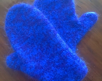 Womens felted mittens
