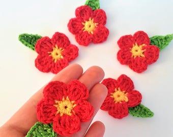5 apliques de flores en ganchillo-5 handmade Crochet flowers appliques-appliques au crochet-5 Crochet flowers applique-5 Flores de ganchillo
