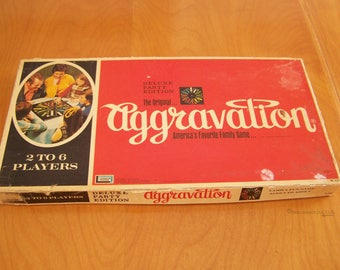 Vintage 1972 Deluxe Party Edition of Aggravation by Lakeside Games – America's Favorite Family Game