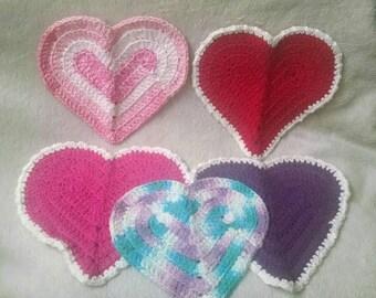 Hand crochet wash cloths