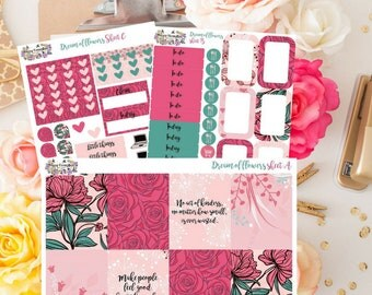 Mini kit DREAM of FLOWERS (Erin Condren size)