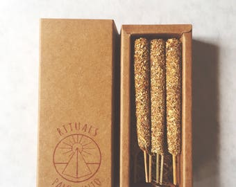 Palo Santo incense . All natural . 6 Pack . Bursera Graveolens . Holywood. Rituals Incense
