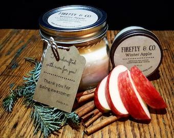 100% Pure Soy Winter Apple, in Mason Jar by Firefly & Co.