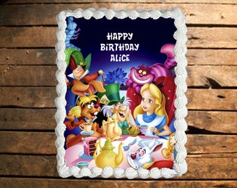 Alice in Wonderland Edible Cake Topper
