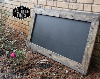 Large Rustic Farmhouse Chalkboard | Espresso | Modern Rustic | Wall Hanging | Rustic Sign | Shabby Chic | Wedding Kids | Reclaimed