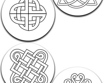A pack of 4 celtic knots Pattern weights I deal for weighing down patterns on delicate fabrics no need for pins like TV sewing Bee
