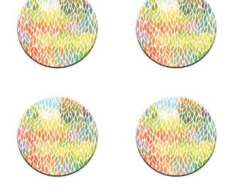 A pack of 4 colourful leaves design Pattern weights Ideal for weighing down patterns on delicate fabrics no need for pins