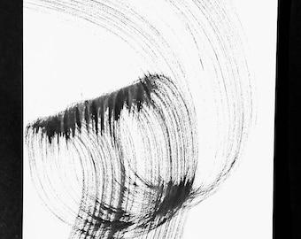 Bucle de tinta negra