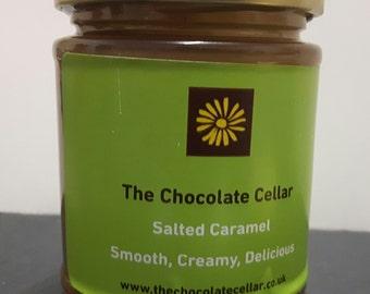Salted Caramel - Salted Caramel Sauce - Sea salted Caramel - Handmade salted caramel made with organic butter and Welsh sea salt