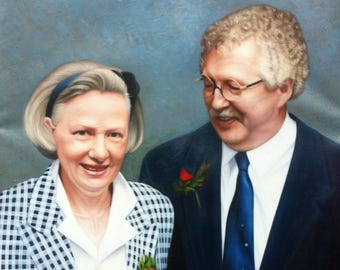 Anniversary Gift -Custom Couple Portrait, Custom Portrait - Custom Painting Gift - Custom Portrait Painting- Oil Painting from photo, gift