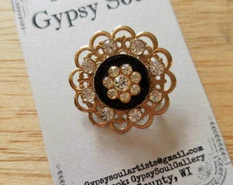 Vintage rhinestone pin brooch