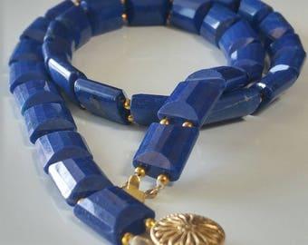 AAA Lapis Lazuli choker necklace - Gemstone necklace -VJR58