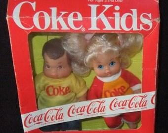 Coke Kids (Coca Cola) Dolls boxed vintage 1986 by BBI Toys International LTD