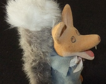 Basil Brush Flocked Figure vintage c1970s made in Hong Kong by HCF