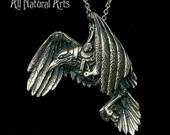 Mechanical Raven (925 Sterling Silver)