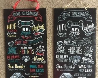 Customized Dog Lovers Chalkboard Art