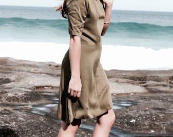CARETL DRESS | High Neck Dress, A Line Dress, Short Dress, Causal Dress,Skater Dress