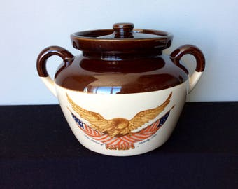 McMcoy 342-3 American Eagle Bean Pot