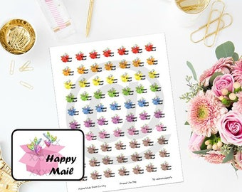 Printable Happy Mail Planner Stickers for ECLP, MAMBI Happy Planner, Filofax, Daytimer