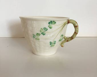 Vintage Belleek Shamrock Teacup