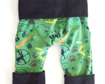 maxaloones - baby outfits - baby hunting clothes - kids hunting clothes - boy clothes - cloth diaper pants - grow with me pants - baby pants