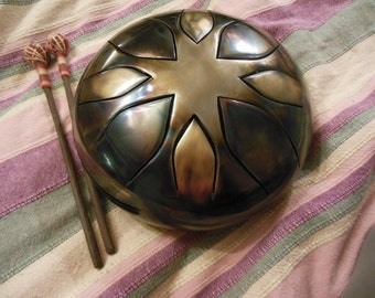 "9"" Steel Tongue Drum ""Wanderer"" Handpan, tank drum"
