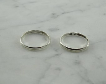 Sterling Silver Bands (size 7.75 and 6.75)