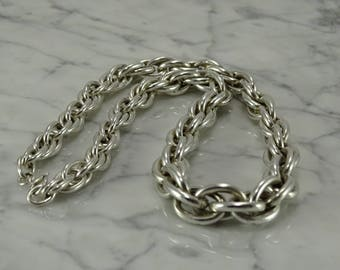 """Sterling Silver Heavy Link Necklace (16"""")"""