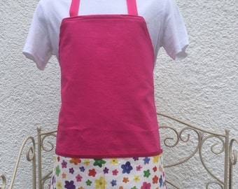 Pink with flowers apron