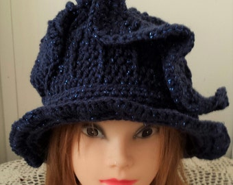 Fun Crochet Hat - Royal Blue