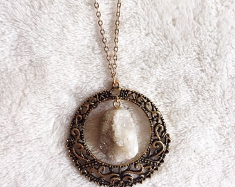 Vintage Filigree Crystal Necklace